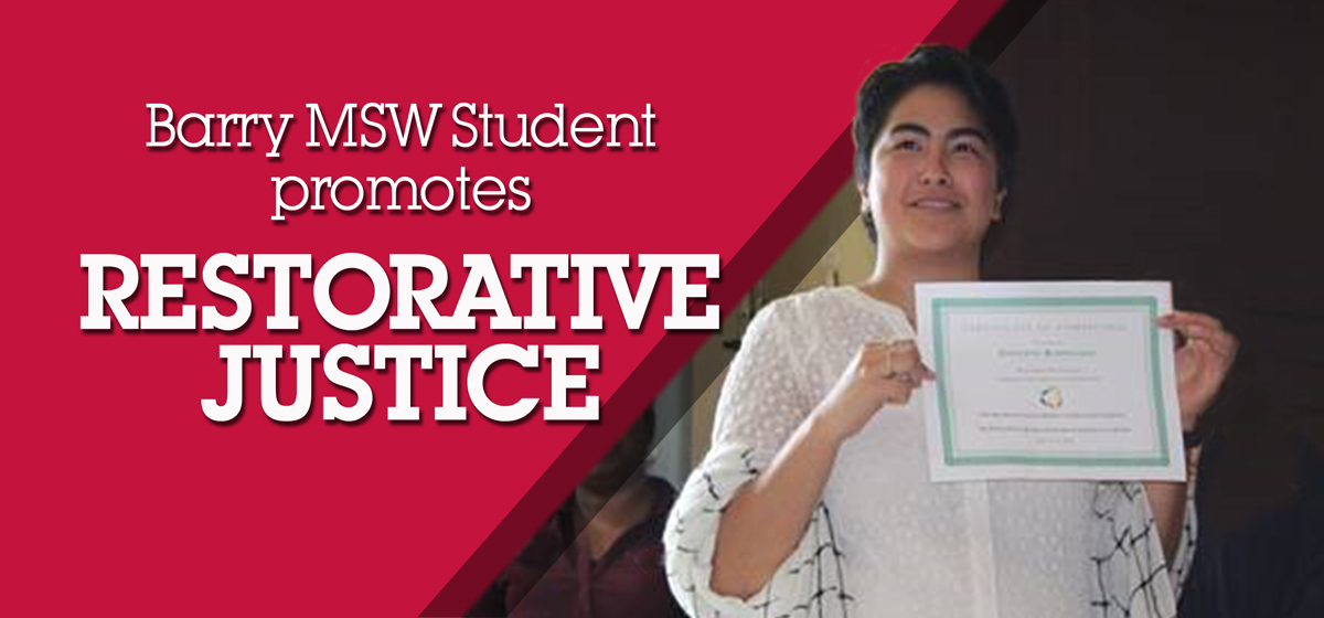 Barry MSW Student promotes Restorative Justice