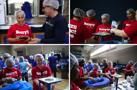 Barry Represented Among Volunteers Packing Meals for Guatemalan Children