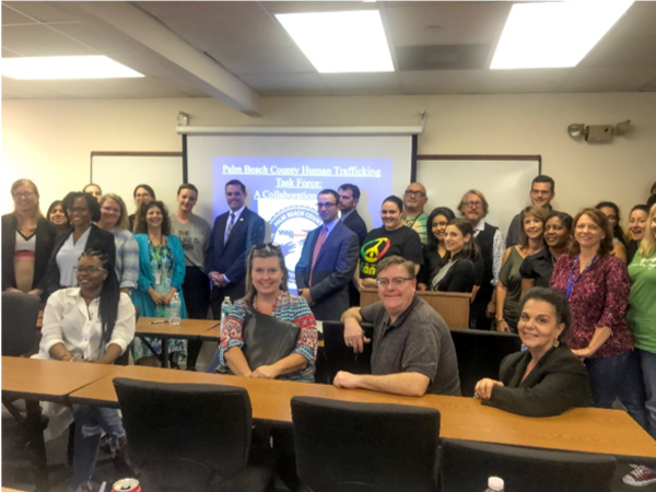Enhanced Collaborative Human Trafficking Task Force training for Palm Beach Gardens SSW Students
