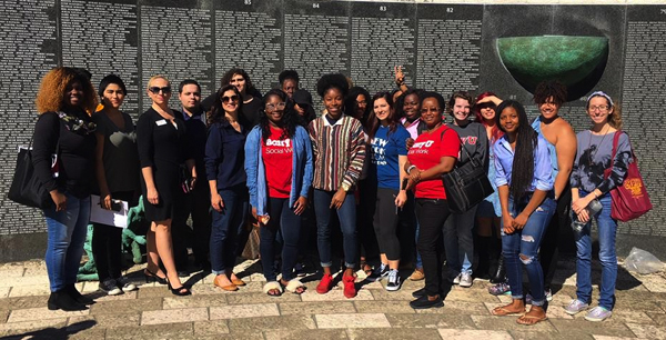 Intro to Trauma and Resilience class visits Holocaust Memorial