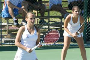 Women's Tennis Falls to Top-Ranked Senators In Blue/Gray Final