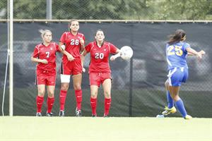 Women's Soccer Swamped By Sharks