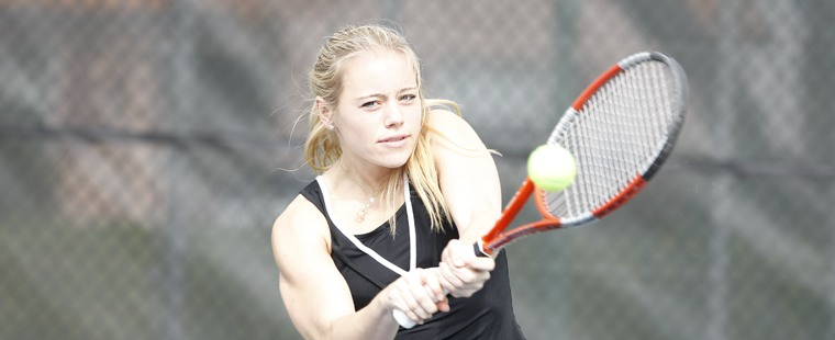 Women's Tennis Earns FIrst Conference Win