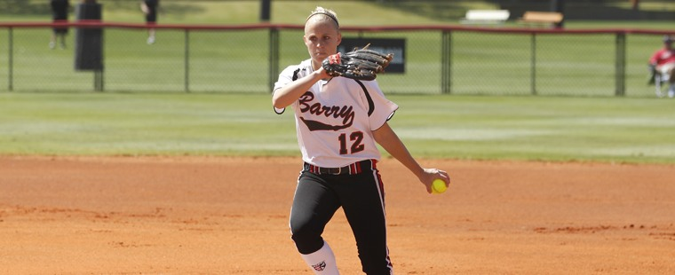 Softball Sweeps the Sharks Off of Buccaneer Field