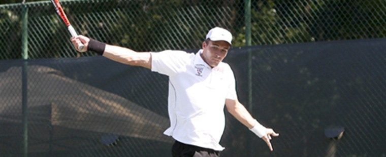 Men's Tennis Shocks #1 Armstrong in First Round of NCAA Finals
