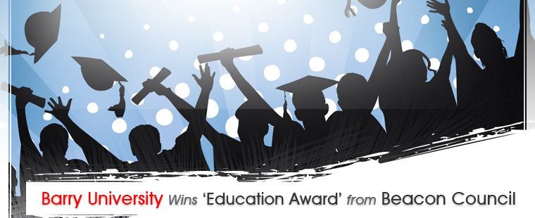 Barry University wins 'education award' from Beacon Council