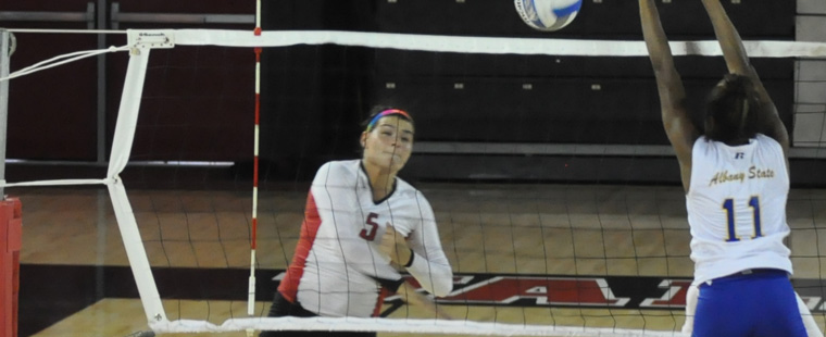 Volleyball Ends Road Weekend With A Second Loss