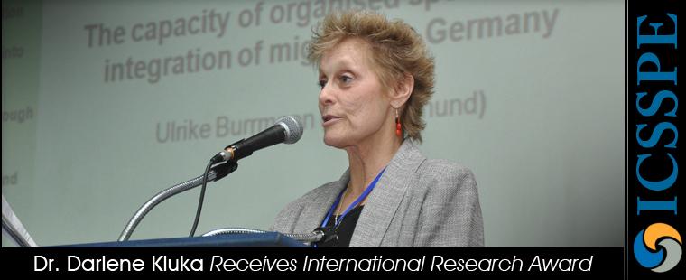Dr. Darlene Kluka Receives International Research Award