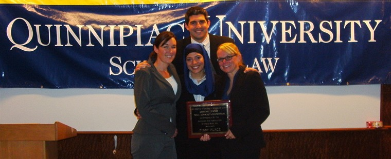 Trial team wins again at ABA/Quinnipiac Trial Advocacy Competition