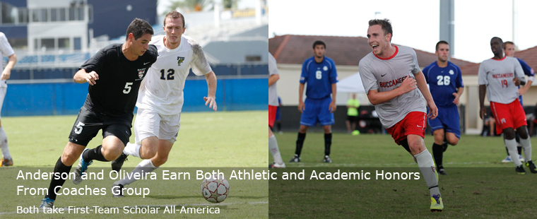 Anderson and Oliveira Earn Both Athletic and Academic Honors From Coaches Group