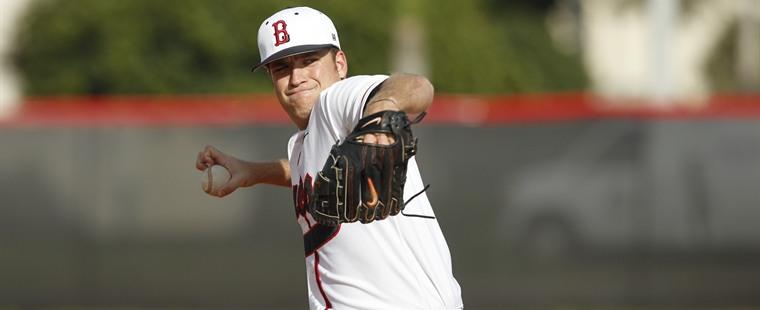 Baseball Stops Skid, Takes Down Tech