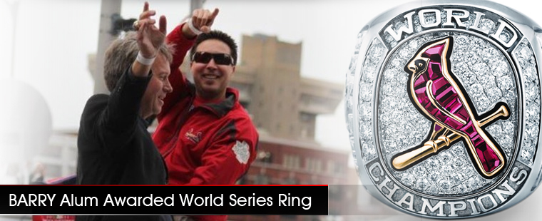 Barry Alum Awarded World Series Ring
