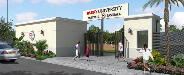 New Entrance Construction For Baseball And Softball Begins