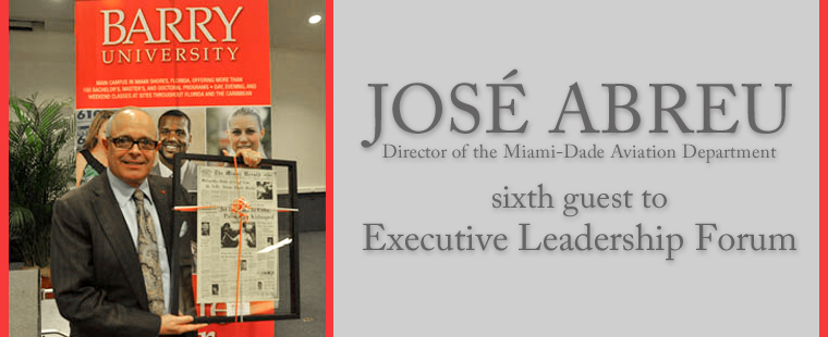 José Abreu sixth guest to Executive Leadership Forum