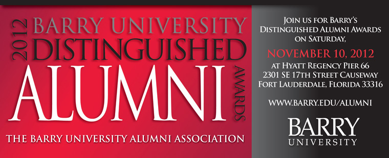 2012 Barry University Distinguished Alumni Awards