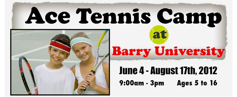 ACE Tennis Camp at Barry University