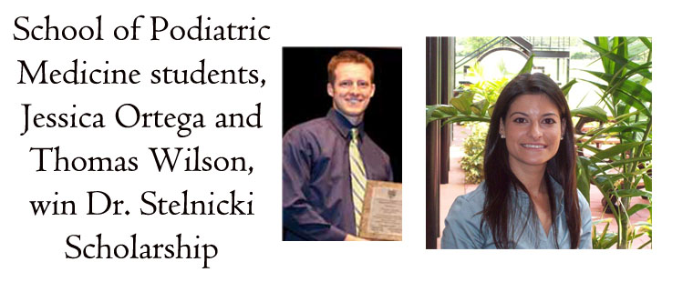 Barry podiatry students awarded Dr. Stelnicki Scholarship