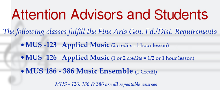 Sign up for Music Ensembles