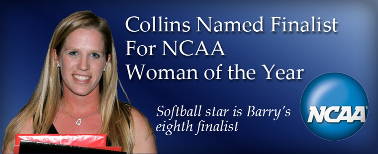 Collins Named Finalist For NCAA Woman of the Year