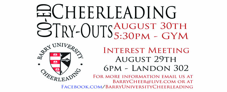 Cheerleading Interest Tryouts