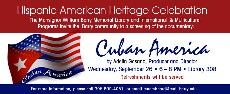 Monsignor William Barry Memorial Library celebrates Hispanic American Heritage Month