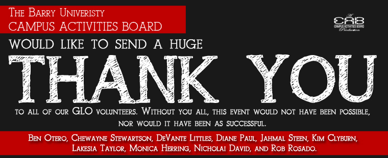Thank You Note from Campus Activities Board