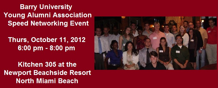 Barry University Young Alumni Speed Networking Event