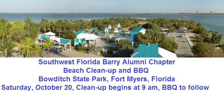 Southwest Florida Barry Alumni Beach Clean-up
