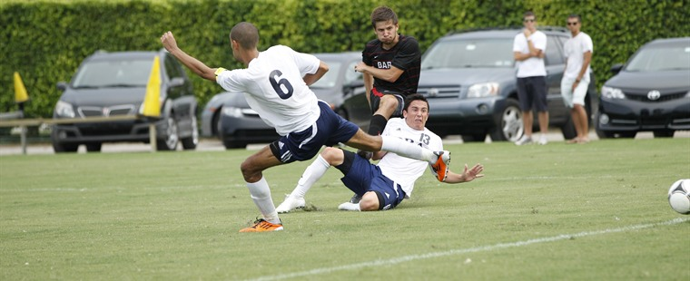 Men's Soccer Hands Sailfish First Loss In OT Thriller