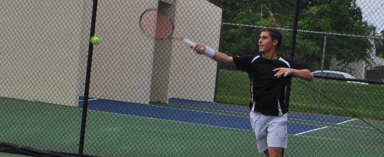 Lombardi Moves on in Men's Tennis Tournament