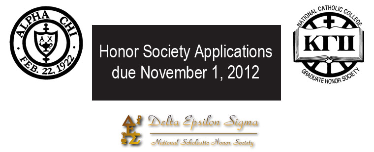 Honor societies call for applications