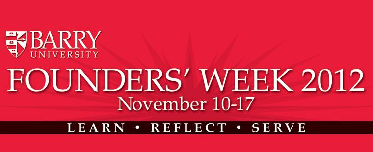 Founders' Week 2012