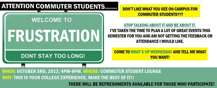 Attention Commuter Students Are You......
