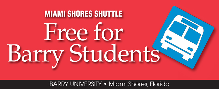 Miami Shores Shuttle – Free for Barry Students