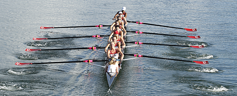 Bucs in Mix at Rowing's First Race
