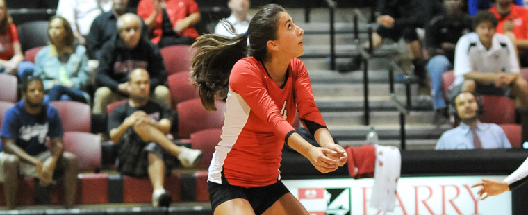 Clap On, Claflin Off as Volleyball Sweeps 2nd Match of Day