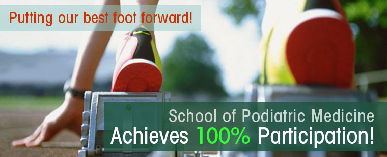 iGive Update: School of Podiatric Medicine achieves 100% participation