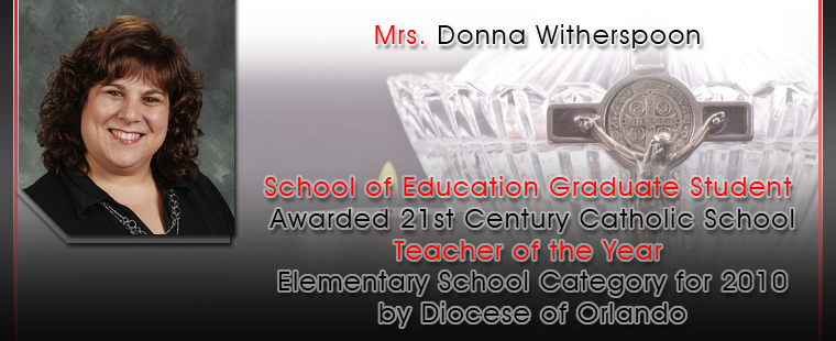 ADSOE student awarded 21st Century Catholic School Teacher of the Year for elementary school category