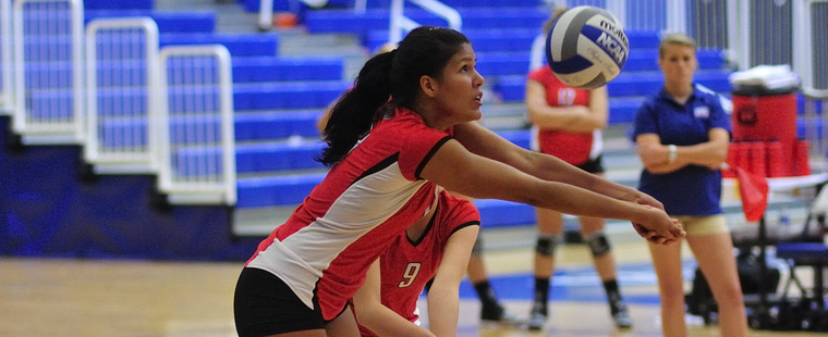 Volleyball Lets 2-Set Lead Slip Away