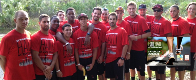 Baseball Participates In 5K Walk/Run For Haiti