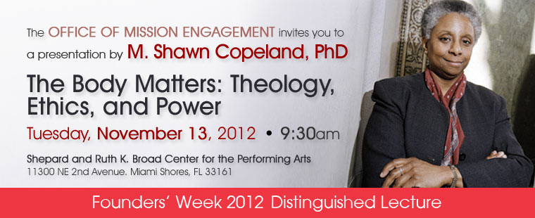Founders' Week: Tuesday, Nov. 13 – Distinguished Lecture with Dr. Shawn Copeland
