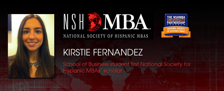 School of Business student first 'National Society for Hispanic MBAs' scholar