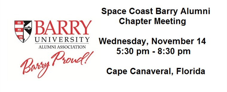 Space Coast Barry Alumni Chapter Meeting