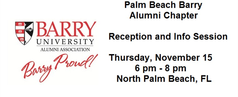 Palm Beach Barry Alumni Chapter Reception and Information Session