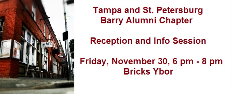 Tampa and St. Petersburg Barry Alumni Chapter Reception and Information Session