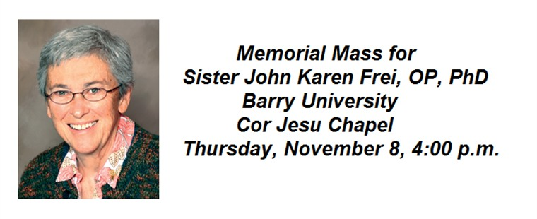 Memorial Mass for Sister John Karen Frei, OP, PhD