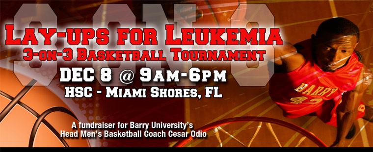 Barry Hosts 3-on-3 Basketball Tourney to Support Leukemia