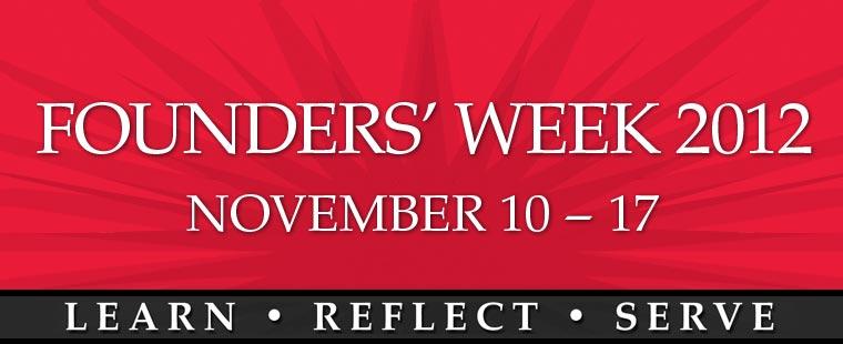 Founder's Week 2012