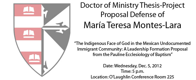 Thesis-Project Proposal Defense of Maria Teresa Montes-Lara
