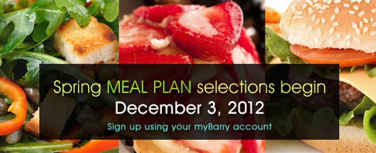 Spring Meal Plan Selection